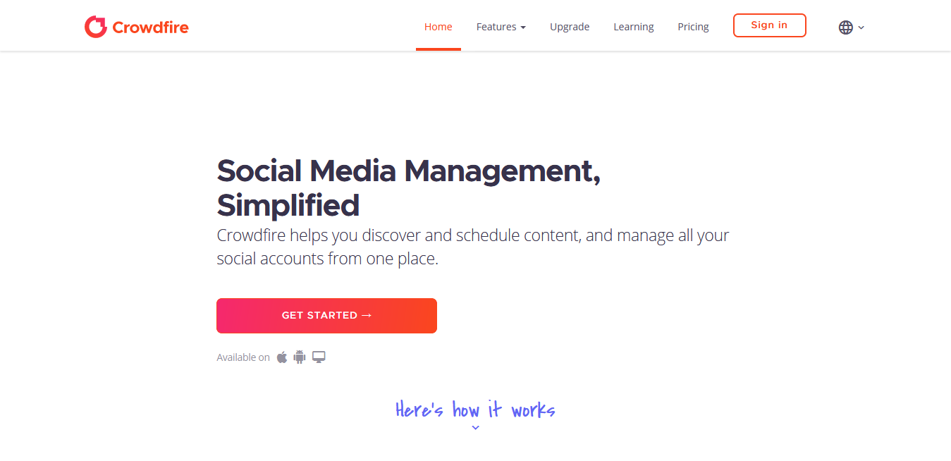 Free Social Media Management Tools #5 - Crowdfire