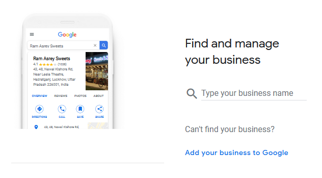 Google My Business Account - Find & Manage